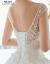 mozi ioフレッド2019新型女史冬厚手コリアスタム新婦結婚洋風ブライダルスカートローリングスタイルS