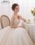 moziハーバーン风上品ウェディングドレス新婦ウェディングドレス2019新型ドレインプリンセスドリーム白シンプビルビルウェディングドレスドレインモデルM