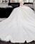mozi主なウェディングドレスの新婦ドレース2019新型セクシーオフスタン·コリアスタスタ上品トレイン·ハーバーン·ウェディングドレスのスカートドレンモデルM