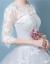 軽量ナクール婚ドレース2018新型コリアス妊妇婚バッグ肩半袖レロール季新WXJ中腰単品ウェディングドレスXS