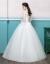 ウェディングドレス2018新型オフスタンヨーロッパ式宮廷ヘボン新婦ドレスム妊婦秋ウェディングドレス女性Cn妊婦単品ウェディングドレス白M
