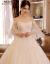 moziオリフュージョンウェディング結婚式ドレス新婦2019新型スリム長のドレインイン宮廷優雅姫夢まぼろし腕結婚高級品紗スカートローリングモデルXL