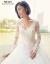 moziホワイトウェルディー2019新型コリアスタ新婦結婚長袖レレスファッションシンプロファッションモデルS