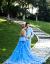 2018影楼カップルテ-マウェディング写真撮影ロケカップル写真トレインの前の短い後、長彩紗ドレスが男装平均サイズで売られています。