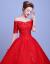 ウェルディドレース新妇の赤いウエディング2018年秋色ドレン款+ストールXL