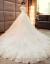 ウェルディドレース2019新型冬新婦結婚詰め襟レストーロン長のトレイン王女ロングリム長袖白ロンゴ+三点セットXL