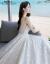 mozi上品V领軽やかないずみのジェーデ・レング・レイ・チルドレス・オブ・ジェルディ2019新型旅撮影ウエストストリップ台湾型ドレスウェディングドレスローリングモデルXL