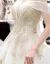 mozi新婦の結婚ドレンの結婚式2019新型ウェルディープリンセスドリーム洋風セクシーオフダー妊婦大き目のサーズススカートトレンモデルM