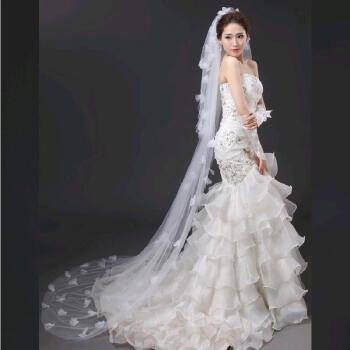 兄姿秀の新型モデルのヘアービル用品の新婦ドレン花弁真珠ウェルディードレスのネットアクセサリーは白色で通用します。