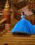 珂梵図女童ドレスポンウエディングドレスプリンセススカート童話小女の子シンデレラ公演用ドレスアップクリスマス子供服新ノフレッブ120 cm