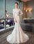 オフシデルウェルディ2019新型新婦結婚洋風プリンセススドリームメード短いドレイン白XL