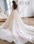 MUYA NG OFrishショルダーウェンディン2019新型新婦シングルグ洋風宮廷長のトニー王女ドリームホワイトトレイン(1尺9)