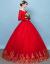 Yishafeinaウェディングディングディングディングディングドレース2019新型冬厚手保温長袖レディス赤い新婦結婚ローリングウェディングドレス冬型赤L