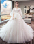 ウェディングドレス2019新型のニューレディードレス大好きなサーズスのドレインプリンセスドリーム妊妇mm遮妊娠お腹ドレイン+6点セットM