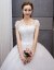Yishafeina 2019新型コリアスターリングリング·ロールダイン手縫いビーズウェディング大きさの新妇ウェディングドレス白S
