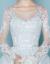 Yishafeina 2019夏新款新婦結婚式ドレス長袖双肩レスウェディングドレス妊妇スリームグリル白XXL