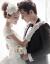 Changyinコリアスタルオファ旅撮影ロケレストーリーン新婦ウェルディウェディングドレス+ヘアー手袋