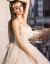 OKOJレディススウィーディングスファッションブランド年新款新婦オフシドゥルダーローリング秋冬は袖ストールがあり甘いウェルグース象牙白S