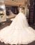 SHIGUANGBEANウェディングドレス2019新型洋風豪華ドレン結婚宮廷新婦ナチェルウェルディーベルト袖VネックホワイトローグL