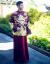 劉詩詩とじスタイイネ服2018新款龍鳳服新婦ウェルディドレス結婚中華風乾杯時間はドレスアップ服女装ショー禾服+モデル同じス首飾りL