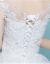 Yishafeinaウエディングス2019新型コリアス新婦プリンセスシンプレル保守妊婦高腰スム女白色M