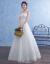 Yishafeinaウエディングス2019新型新婦結婚ビストプリンセスドリームシングルス冬白色M