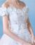 シエルヴィーナ2018新型オシショルダーニューモデルでウェディングドレス夏中ウエストローリングセット二『ウェディングベール+八点セット』オーダーメイド