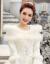 Yishafeina 2019新型冬ウェルディー新婦秋冬型オフシンドール長袖と綿保温厚い手冬白色M