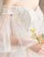 オフシド妊婦ドレン結婚式2019新型新婦結婚ドレス大き目のサイズ高腰遮妊娠胃TIKTOK同じス高腰ドレイン4点セットM