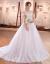 ウェディングドレス2019新型新婦の結婚ドレスナチ白い吊りウェディングドレスのシンプルウェルディ2019新婦の結婚式コリアメートルホワイト/ピクチャーカラーXL