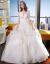 オーフショルダーウェディング2017新型洋風ナチプリンセスドリーム宮廷ローリング新婦結婚冬コリアスターライトホワイトドレンS
