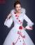 尼玫欧ウェディングドレス2018年新型長袖の厚い手のコリアの毛織の襟の綿は花のウェディングベールの白色のMを詰めます。