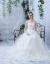 TBGウェディングドレス2019新型ヴィスチェ新婦の結婚ドレスドリームドレインスターファッションプリンセスセレス春季の女性ホワイトは花を持たないドレンXL