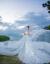 コリアスタル新婦の頭紗二階3メートルの長さのドレンベール5メートルの長さ10メートルのウェディングベールの裸紗5メートルの単層は髪を付けずに顔を隠すことができます。
