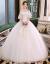 ウェディングドレススカート2019新型新婦の結婚式フルチロヘップソルルロンローンL