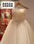 Hongzhuang主ウェルディディティーンドレス2019新型新婦星空夢まぼろしナルチラムビッチジェネやかなのウェディングディングディングディングドレインプリンセスシン夏画像カラートレイン