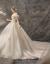 オーフショルダーウェディング2019新婦新型ドレンネット有名人TIKTOK王女星空宮廷ナチェルハーバーン女性P 04シャンパン色トーンスタイルS