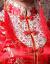 如意風の新型の秋冬の結婚のチャイナドレスは綿の長袖を挟んで、乾杯の時間はドレスの新婦でドアに帰ります。