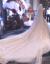 シャンパン色の星空ガールズロングリル新婦の結婚式ナチェルール白の大トレイン4.2メートルの長さ3メートルのブロードバンドマスクを引きずって1.5メートルぐらいの135 cm-155 cm