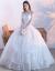 オフシドールウェルディー2020新式ウェディングドレス新婦ロングリアスタイズム大き目のサイズス白露背ウェディングドレスM