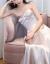 シンプレルのサテンSULIムビチイやかなウーディングスの新商品ドレスアップ夏トレイン款って出挂けてくる纱女画像色S