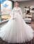 Flaige主なウェディングドレス2020新型秋冬新婦ドレス妊婦高腰大き目のサーズスドレン王女妊婦太っているmmは妊娠中のお腹を隠します。