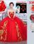 2020新品ウェルディ・レングス新婦の赤色ビスト長のトレイン・ハイウエスト大好きなセイズ・ストール+クラウンL