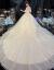 フレンチーオ·ショルダー主なウェディングドレスの新婦である大トレインイン·シンプが外出しています。紗上品々々々々々とした子ローリング夏のシャンパン色-ローリングスタイルXL